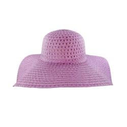 Faddism Women's Purple Straw Sun Hat