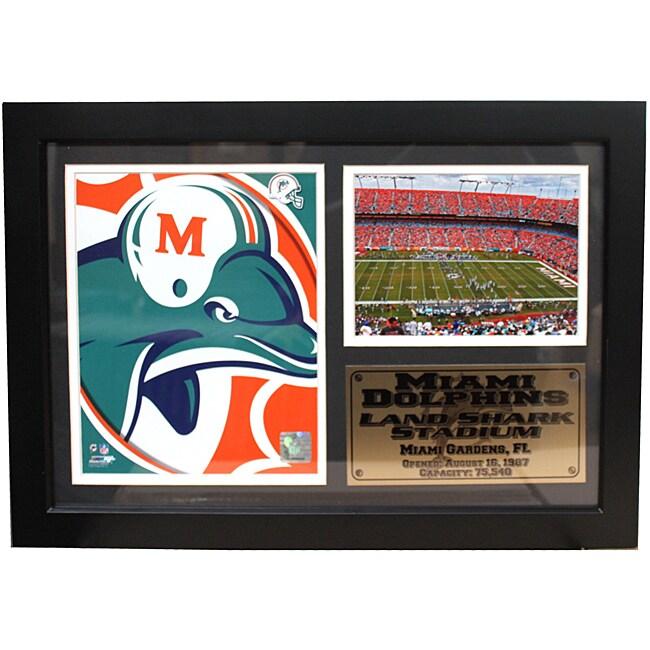 Miami Dolphins Team Logo Photo Stat Frame
