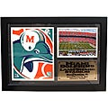 Miami Dolphins Team Logo Photo Stat Frame