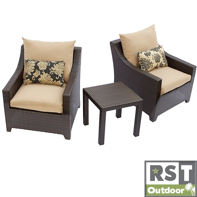 RST Delano Outdoor Three Piece Weather Resistant Patio Furniture Set Overst