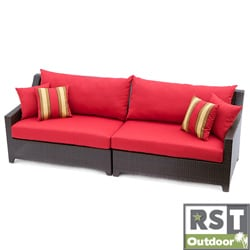 RST Outdoor Cantina Espresso Finish Sofa