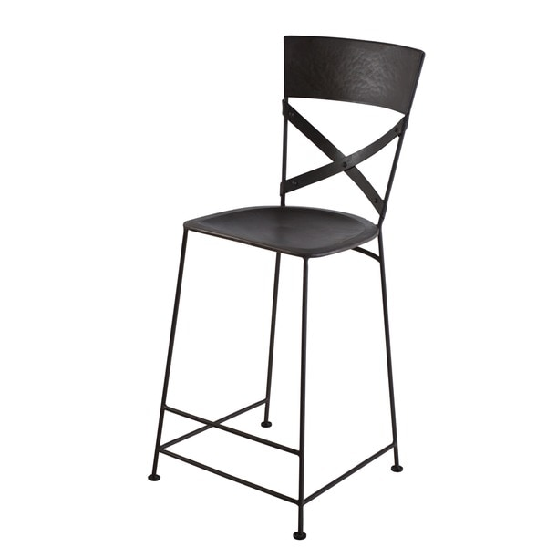 X-Back Zinc Counter Stool