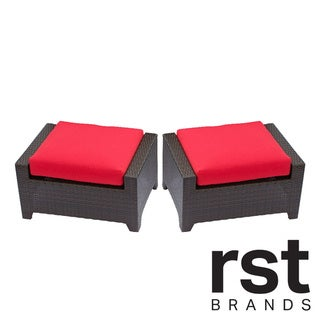 Cantina by RST Outdoor 2-piece Patio Ottoman Set