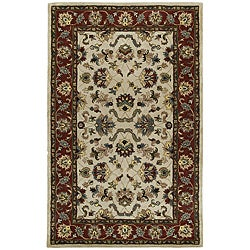 Beige Persian Hand-tufted Wool Rug (5' x 8')