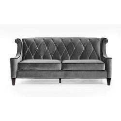 Modern Grey Velvet Sofa
