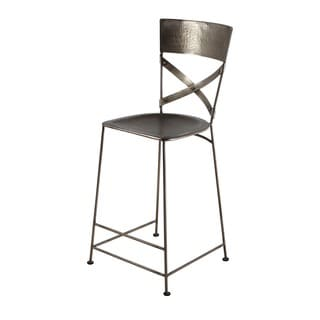Jabalpur Antique Nickel Counter Stool (India)