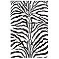 Zebra Hand-tufted Wool Runner Area Rug (2' 6 x 8')