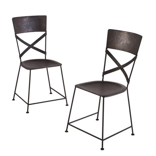 Jabalpur Zinc-finished Iron Dining Chairs (Set of 2) (India)