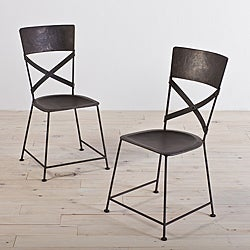 Jabalpur Zinc-finished Iron Dining Chairs (Set of 2) (India)