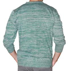 191 Unlimited Men's Green Heathered Cardigan