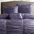 Madison Park &#39;Melrose&#39; Plum 4-piece Duvet Cover Set