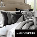 Madison Park Infinity Black/Grey 6-piece Duvet Cover Set