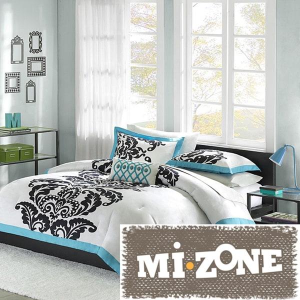Mi Zone Santorini Teal 4-piece Comforter Set