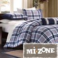 Mi Zone Alton Plaid Blue 4-piece Comforter Set
