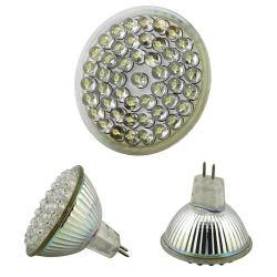 BasAcc White 48 LED 2.4 Watts MR16 Light Bulb