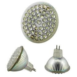 BasAcc White 48 LED 2.4 Watts MR16 Light Bulb