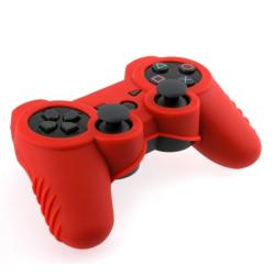 INSTEN Red Soft Silicone Skin Case Cover for Sony Playstation 3