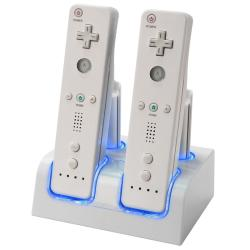 BasAcc 2 x 2 Charging Station for Nintendo Wii