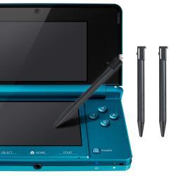 INSTEN 3-piece Black Plastic Stylus for Nintendo 3DS