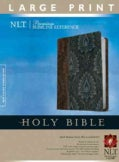 Holy Bible: New Living Translation, Dark Brown / Dusty Blue TuTone, LeatherLike, Premium Slimline Reference (Paperback)