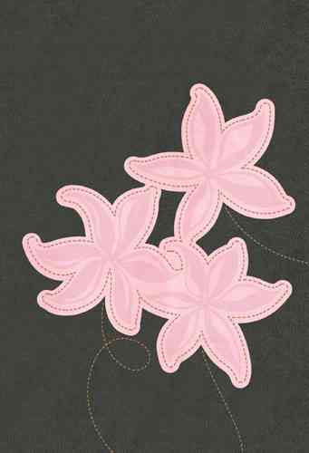 Holy Bible: New Living Translation Grey / Pink Flowers LeatherLike (Paperback)
