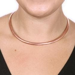 Toscana Collection Rose-goldtone Omega-link Choker Necklace