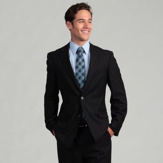 Oxford Republic Slim Fit Navy Stripe Suit