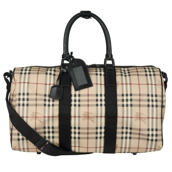 Burberry Haymarket Check Carryall Bag