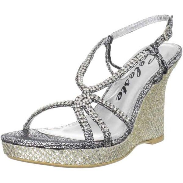 Celeste Women's 'Marisa-02' Jeweled Wedge Sandals