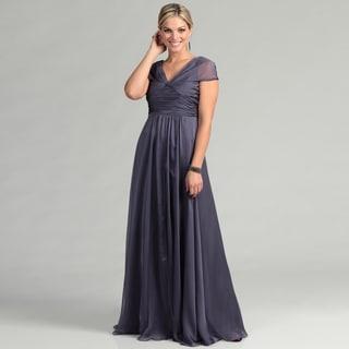 Adrianna Papell Women's Freesia Drape Bodice Gown