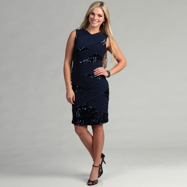 Adrianna Papell Women's Night Sequined Dress