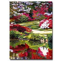 Contemporary David Lloyd Glover 'Rhododendron Reflections' Canvas Art