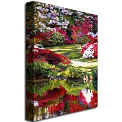 David Glover 'Rhododendron Reflections' Canvas Art