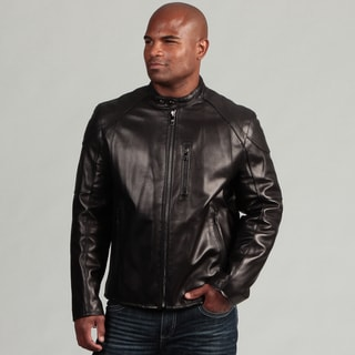 Marc New York Men's Hilltop Moto Smooth Lamb Leather Jacket