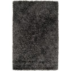 Hand-woven Green Woodford Ultra Plush Shag Rug (5' x 8')