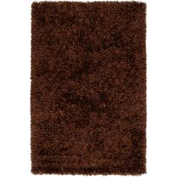 Polyester Hand-woven Brown Woodford Ultra Plush Shag Rug (3'3 x 5'3)