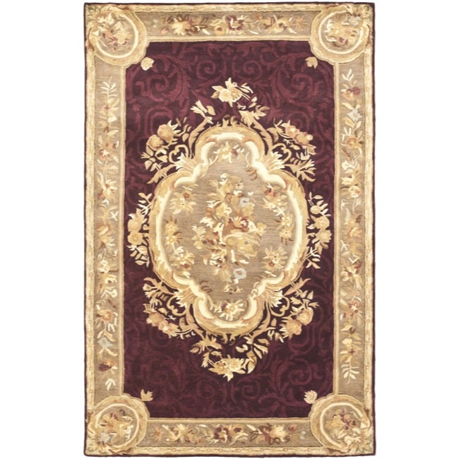 Safavieh Handmade French Aubusson Red Premium Wool Rug (4' x 6')