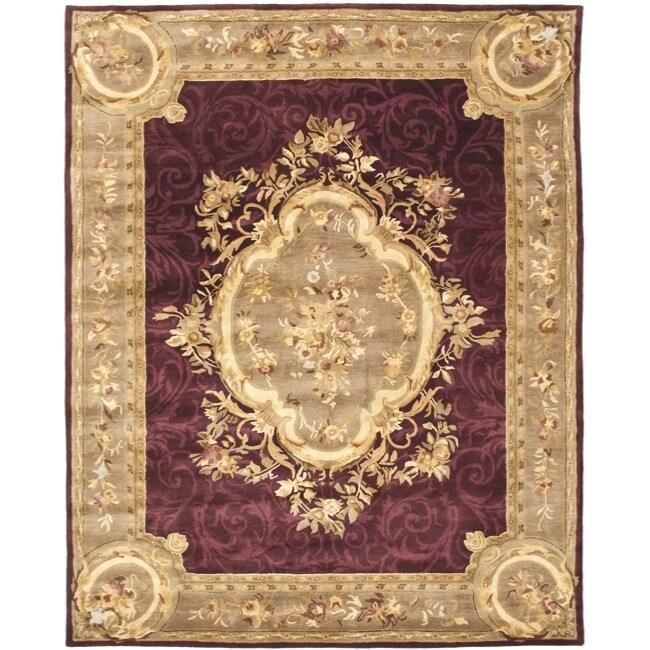 Safavieh Handmade French Aubusson Red Premium Wool Rug (6' x 9')