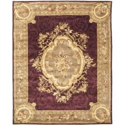 Handmade French Aubusson Red Premium Wool Rug (6' x 9')