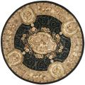 Handmade French Aubusson Black Premium Wool Rug (6' Round)