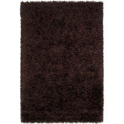 Hand-woven Brown Woodford Ultra Plush Shag Rug (3'3 x 5'3)