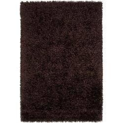 Hand-woven Brown Woodford Ultra Plush Shag Rug (8' x 10')