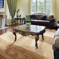 Hand-knotted Tan Drava Wool Rug (8' x 11')