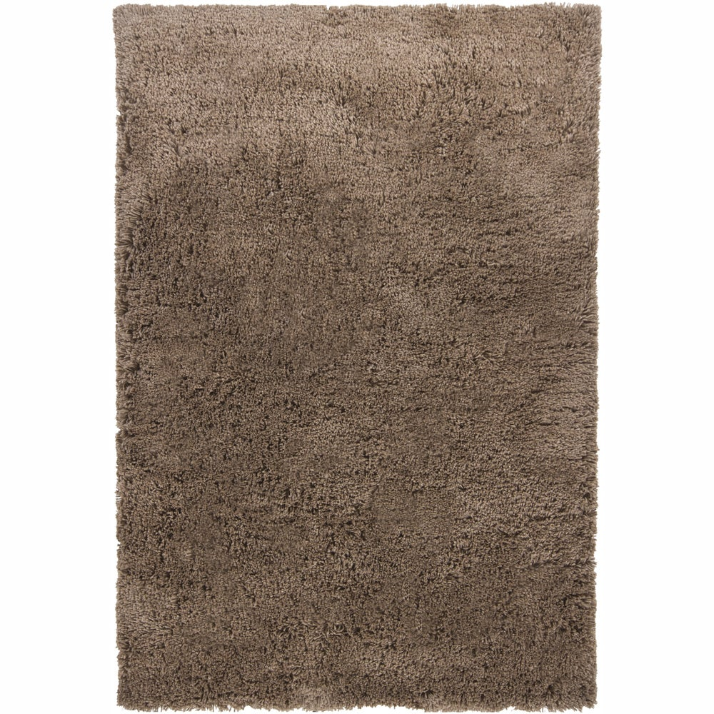 Handwoven Casual Mandara Brown Shag Rug (5' x 7'6)