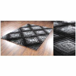 Hand-Woven Mandara Thick Polyester Shag Rug (7'9 x 10'6)