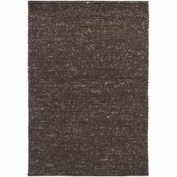 Handwoven Mandara Rug with Braided Pattern (7'9