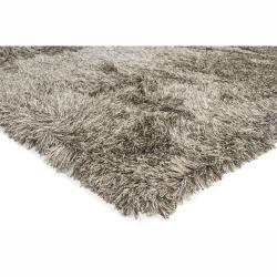 Handwoven Brown/White Mandara Shag Area Rug (7'9 x 10'6)