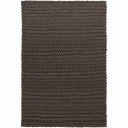 Hand-woven Braided Mandara Brown Wool Rug (7'9 x 10'6)