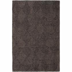 Hand-tufted Mandara Floral Brown-Taupe Wool Rug (5' x 7'6)