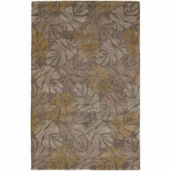 Hand-Tufted Viscose Mandara Transitional Rug (5' x 7'6)